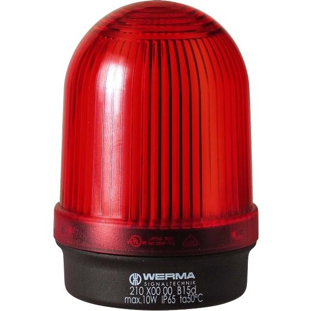 מנורת התראה אדומה קבועה - (10W , 12V ~ 240V (AC/DC WERMA