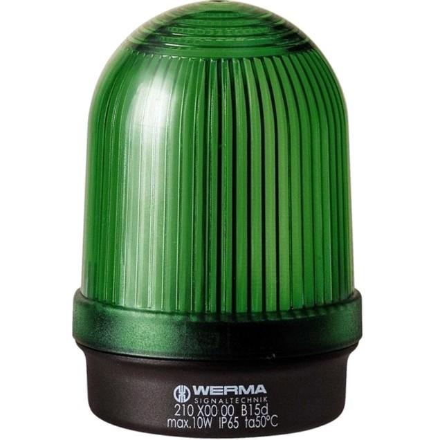 מנורת התראה ירוקה קבועה - (10W , 12V ~ 240V (AC/DC WERMA