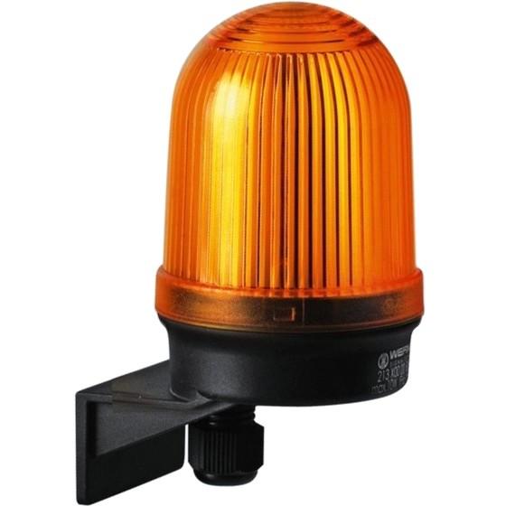מנורת התראה כתומה קבועה - (10W , 12V ~ 240V (AC/DC WERMA