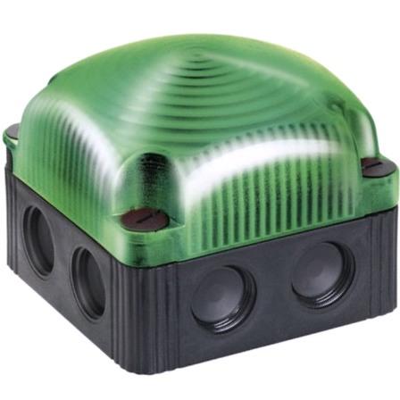 מנורת התראה מודולרית ירוקה קבועה - LED , 230VAC WERMA