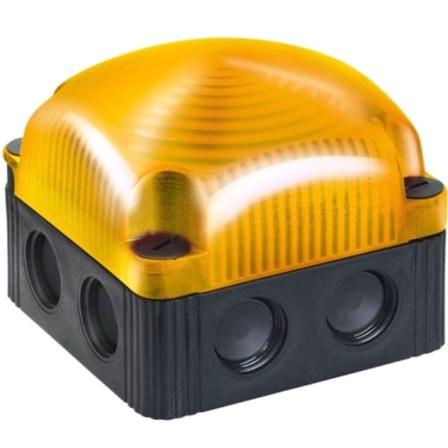 מנורת התראה מודולרית כתומה קבועה - LED , 230VAC WERMA