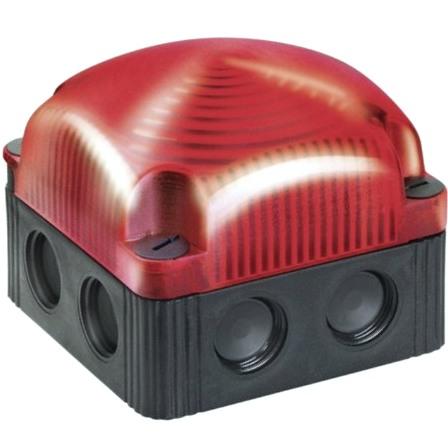מנורת התראה מודולרית אדומה מהבהבת - LED , 230VAC WERMA