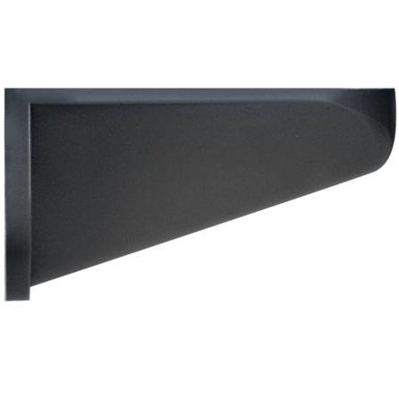 תפס קיר שחור למנורות התראה מודולריות - 65X30X55MM WERMA