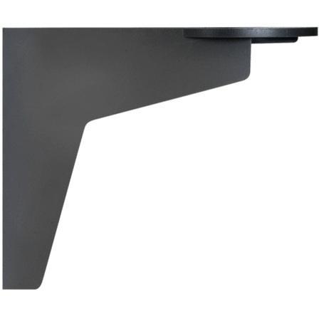 תפס קיר שחור למנורות התראה מודולריות - 41X57X70MM WERMA