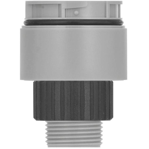 מתאם התחברות אפור - HOLE MOUNT -  למנורות התראה מודולריות WERMA