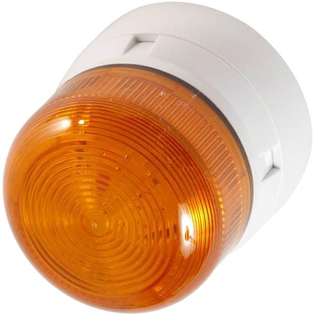 מנורת התראה כתומה מהבהבת - XENON , 3W , 12VDC / 24VDC KLAXON