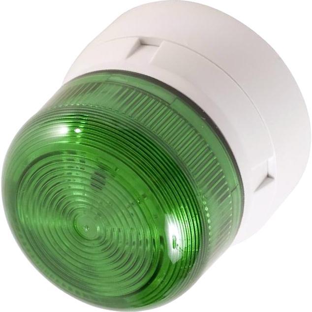 מנורת התראה ירוקה מהבהבת - XENON , 3W , 12VDC / 24VDC KLAXON