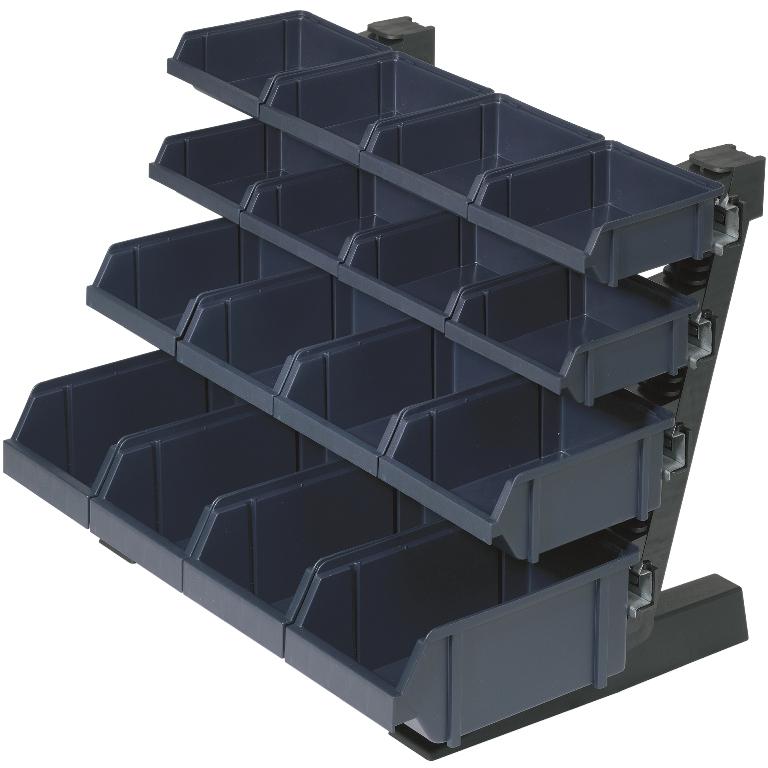 RAACO TABLE RACK WITH 16 BINS - 136686