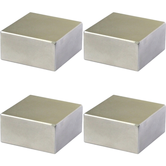 סט 4 מגנטים - NEODYMIUM BLOCK - 25MM X 10MM X 5MM ECLIPSE MAGNETICS