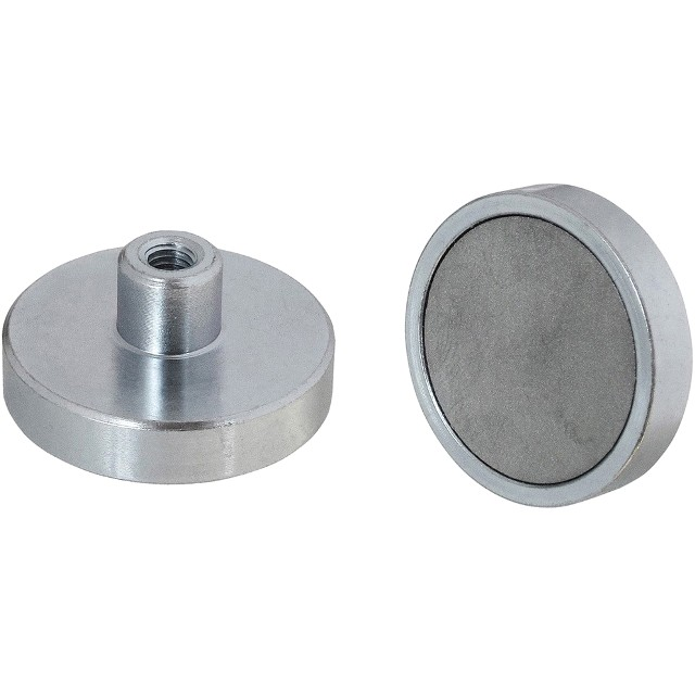 ECLIPSE MAGNETICS NEODYMIUM SHALLOW POT THREAD HOLE MAGNETS