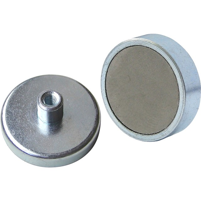ECLIPSE MAGNETICS FERRITE SHALLOW POT THREAD HOLE MAGNETS