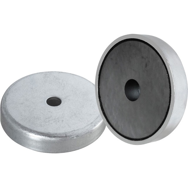 ECLIPSE MAGNETICS FERRITE SHALLOW POT COUNTERSUNK MAGNETS