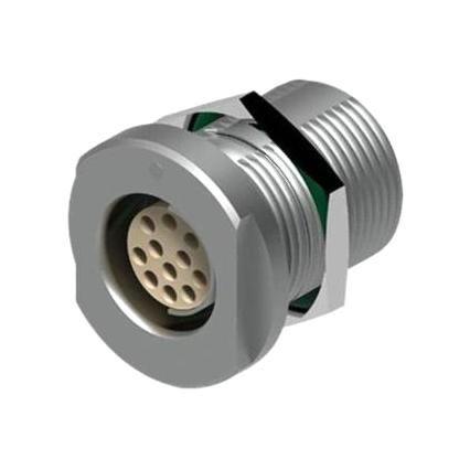 מחבר FISCHER - נקבה לפנל - 2 מגעים - DEE 103 A051-130G FISCHER CONNECTORS