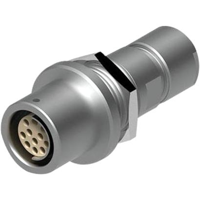מחבר FISCHER - נקבה לפנל - 4 מגעים - +DKE 105 A053-130 FISCHER CONNECTORS