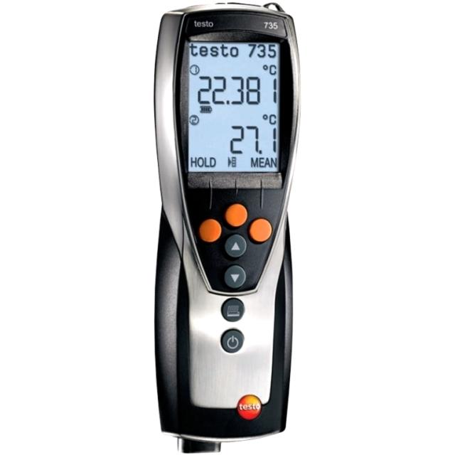 מודד טמפרטורה ידני דיגיטלי - תלת ערוצי - TESTO 735-2 THERMOMETER TESTO