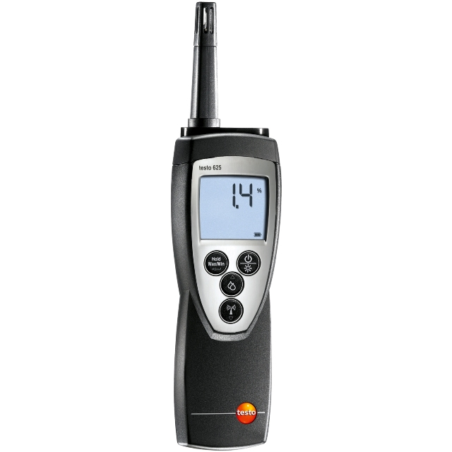 מודד טמפרטורה ולחות ידני דיגיטלי -  TESTO 625 HYGROMETER TESTO
