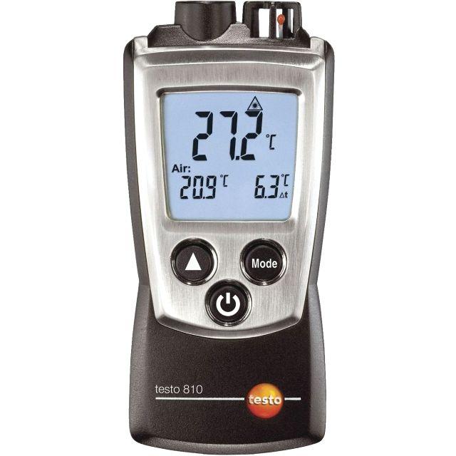 מודד טמפרטורה ידני דיגיטלי - דו ערוצי -  TESTO 810 THERMOMETER TESTO