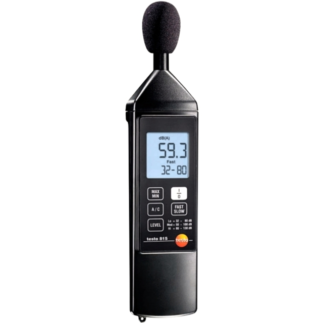 TESTO 815 DIGITAL HAND HELD SOUND LEVEL METER