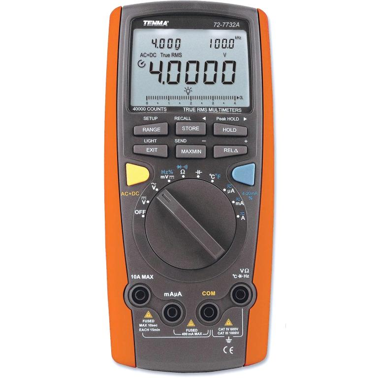 TENMA DIGITAL MULTIMETERS - INTELLIGENT II SERIES - 72-7732A