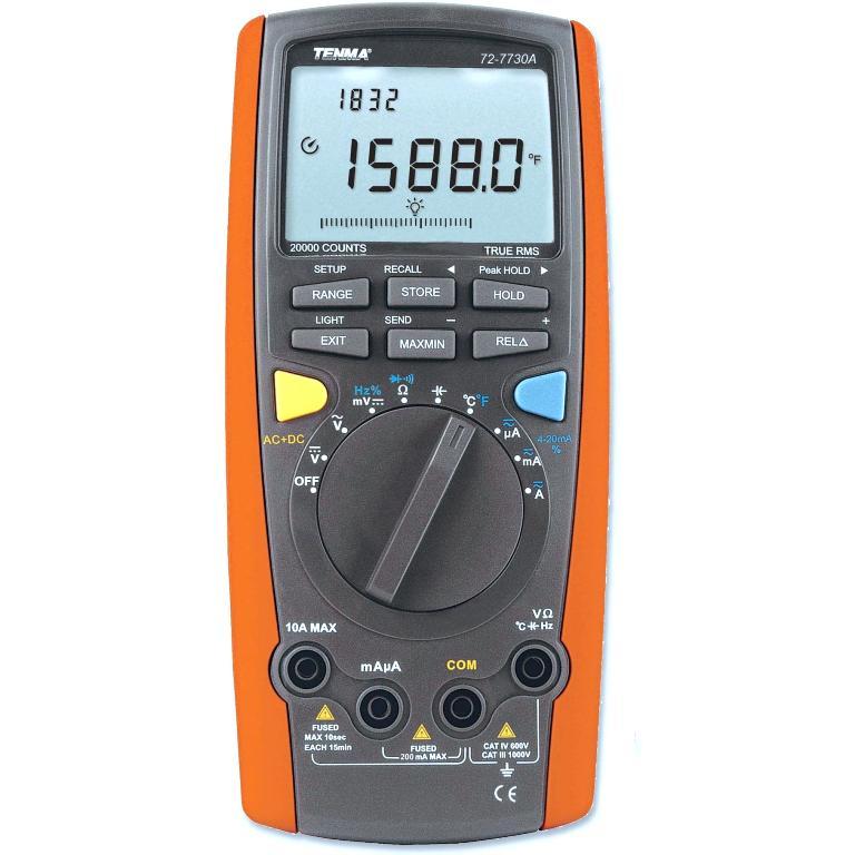 TENMA DIGITAL MULTIMETERS - INTELLIGENT SERIES - 72-7730A