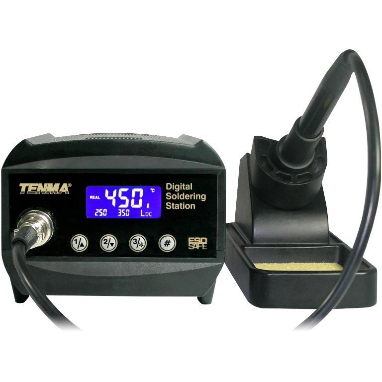 תחנת הלחמה דיגיטלית מקצועית - 60W TENMA