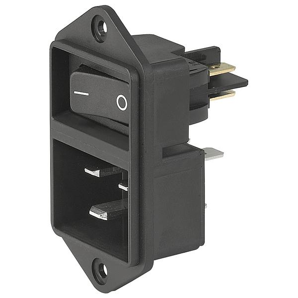 תקע חשמל IEC עם נעילת 16A , 2POL SW , SCREW - V-LOCK SCHURTER