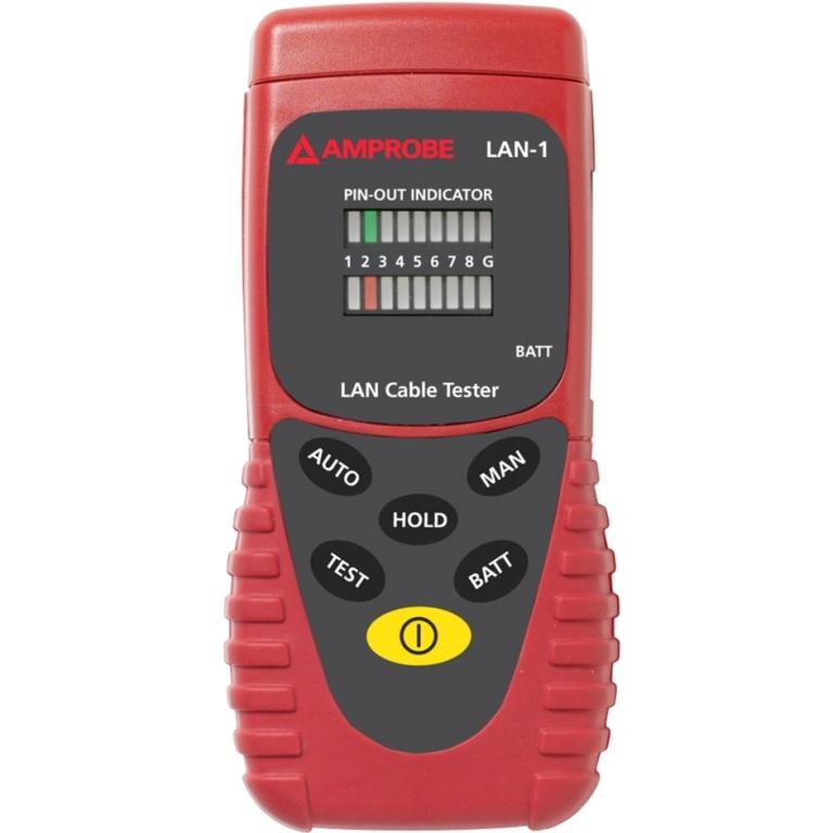 בודק כבלי תקשורת מקצועי AMPROBE LAN-1 - RJ45 / BNC AMPROBE