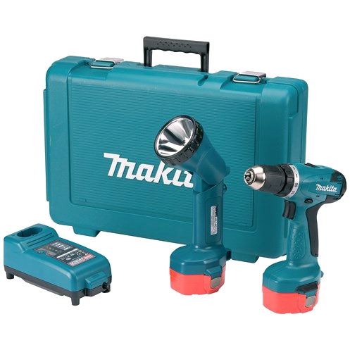 MAKITA 14.4 Ni-Cd COMBI DRILL DRIVER AND TORCH KIT - 6281DWPLE