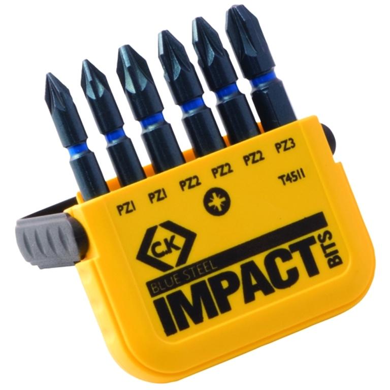 CK TOOLS V8 BLUE STEEL IMPACT BIT SETS