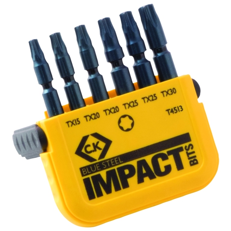 CK TOOLS V8 BLUE STEEL IMPACT BIT SETS