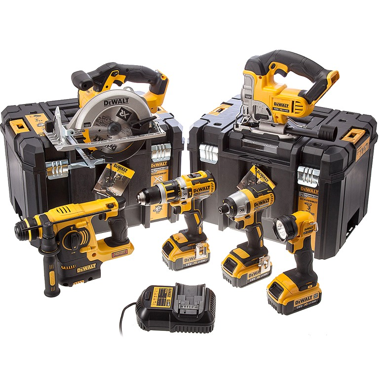 DEWALT 6PC 18V CORDLESS POWER TOOL KIT - DCK699M3T