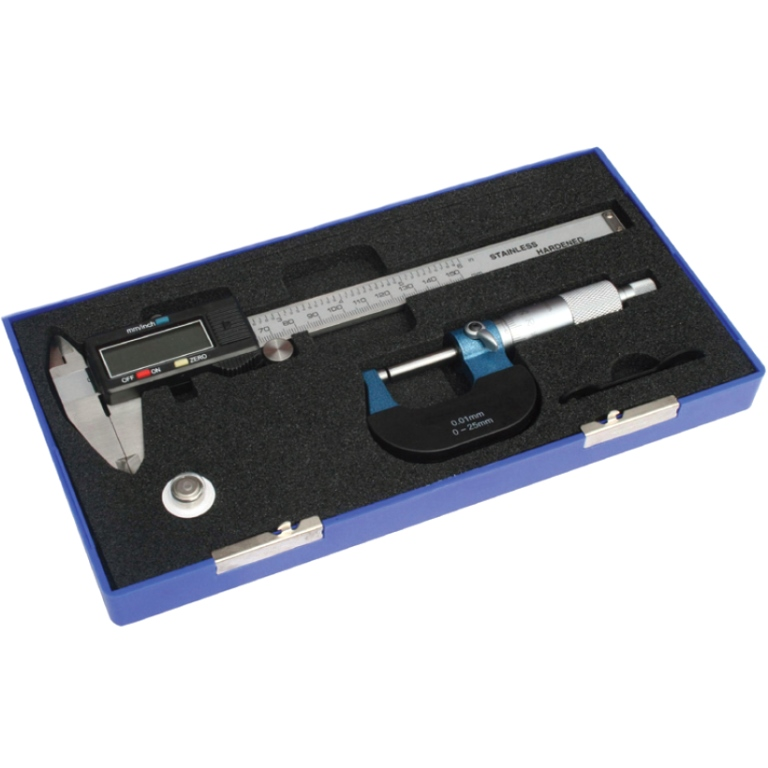 DURATOOL DIGITAL CALIPER & MECHANICAL MICROMETER SET