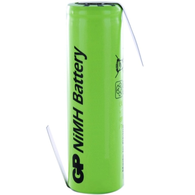 GP BATTERIES RECHARGEABLE BATTERIES WITH SOLDER TAGS