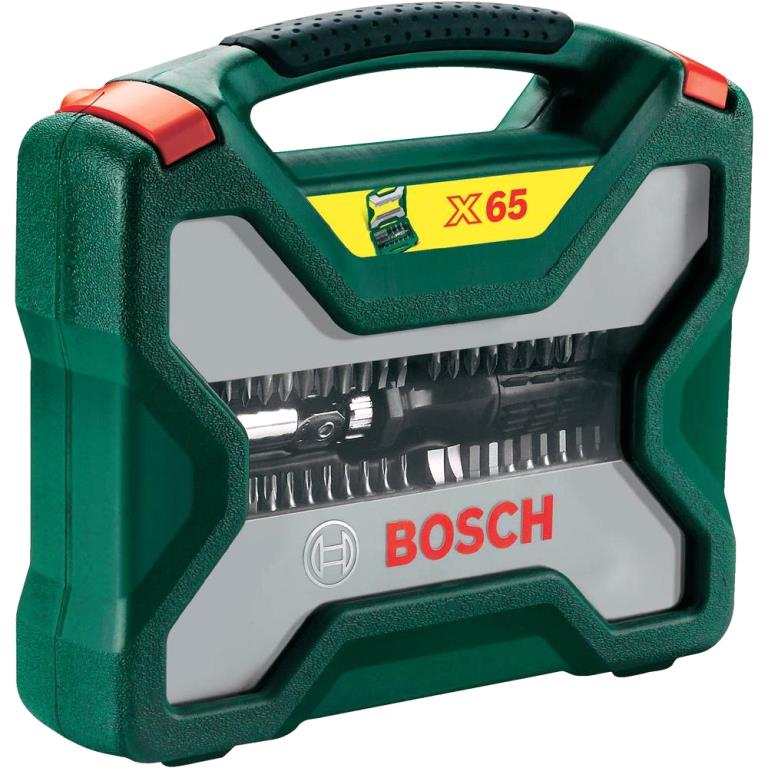 BOSCH 65 PIECE SCREWDRIVER BIT SET