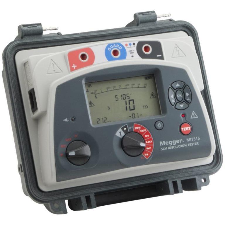 מודד בידוד / התנגדות דיגיטלי - MEGGER MIT515 - 250V ~ 5000V MEGGER
