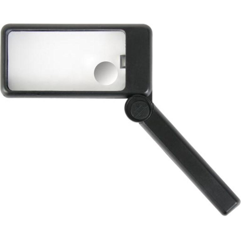 זכוכית מגדלת ידנית עם תאורה - הגדלה X2 / X6 DURATOOL