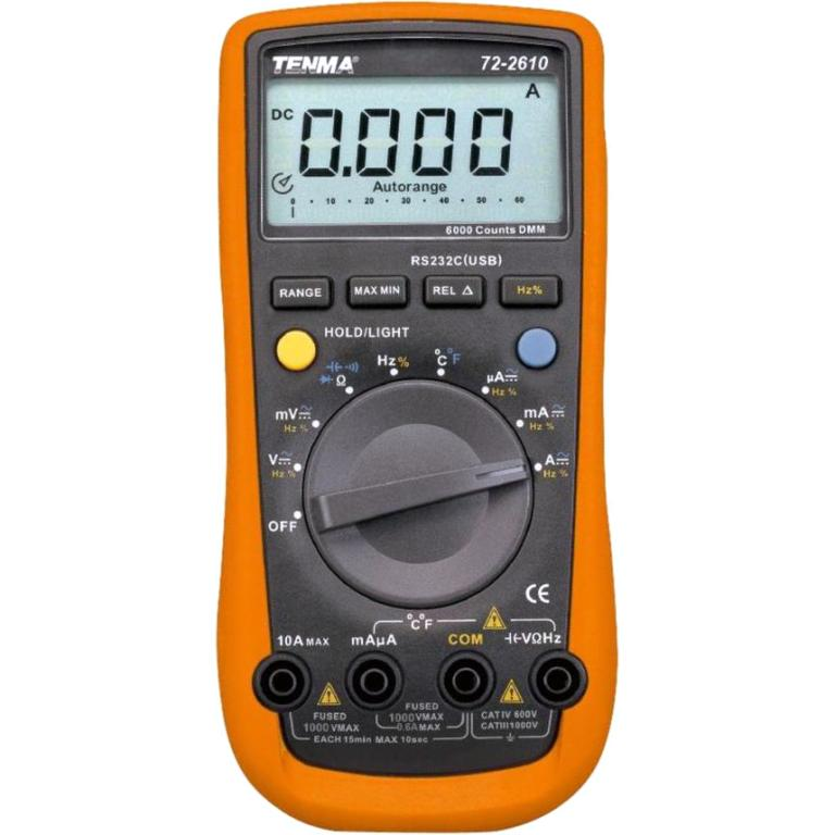 TENMA DIGITAL HAND HELD MULTIMETER - 72-2610