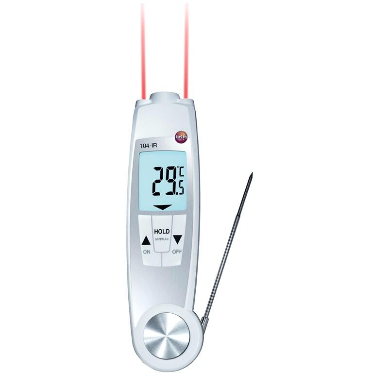 מודד טמפרטורה ידני דיגיטלי - TESTO 104-IR THERMOMETER TESTO