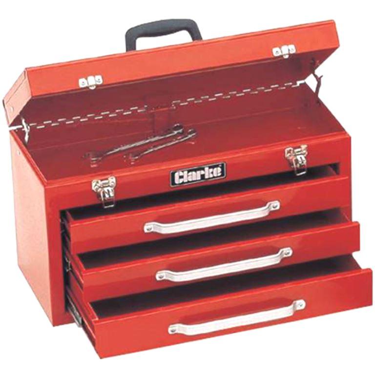 ארגז כלים מפלדה - 3 מגירות + תא עליון - CLARKE CB3 CLARKE