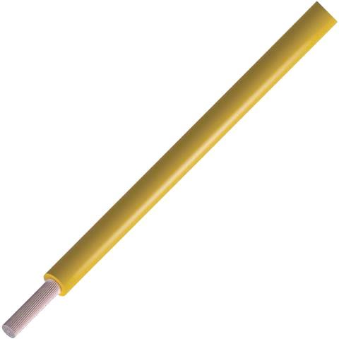 כבל חשמל גמיש לאלקטרוניקה - 24AWG - גליל 305 מטר - בידוד צהוב ALPHA WIRE
