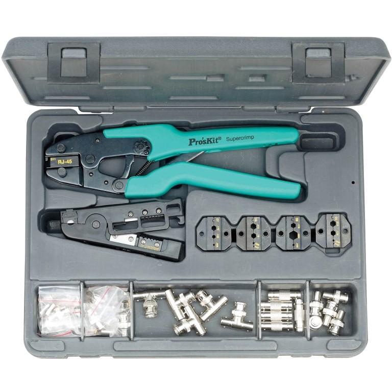 קיט כלי עבודה מקצועי לטכנאי CCTV PROSKIT