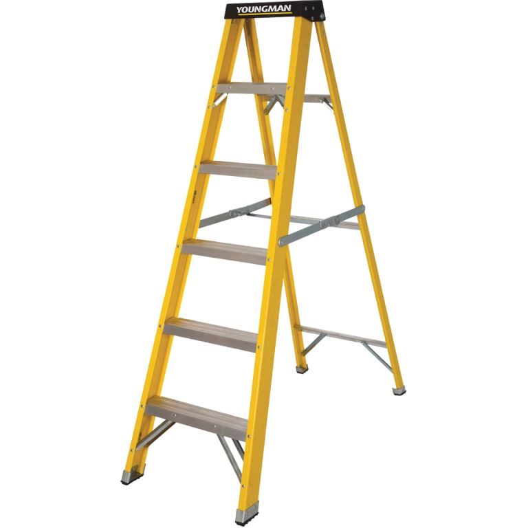 YOUNGMAN S400 GRP TRADE HEAVY DUTY STEP LADDERS