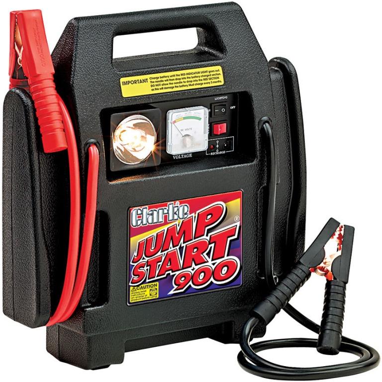 CLARKE PORTABLE 12 VOLT POWER PACK - JUMPSTART 900