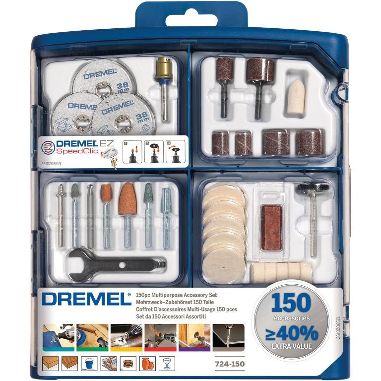 DREMEL 150 PIECE MULTIPURPOSE MODULAR ACCESSORY SET - 724