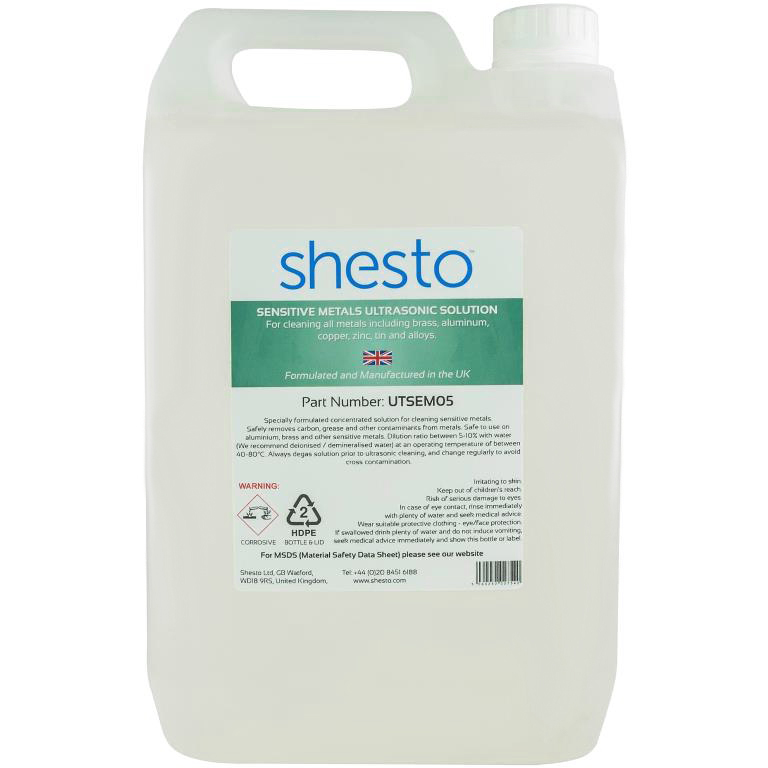 SHESTI ULTRASONIC CLEANER SOLUTION FOR SENSITIVE METALS