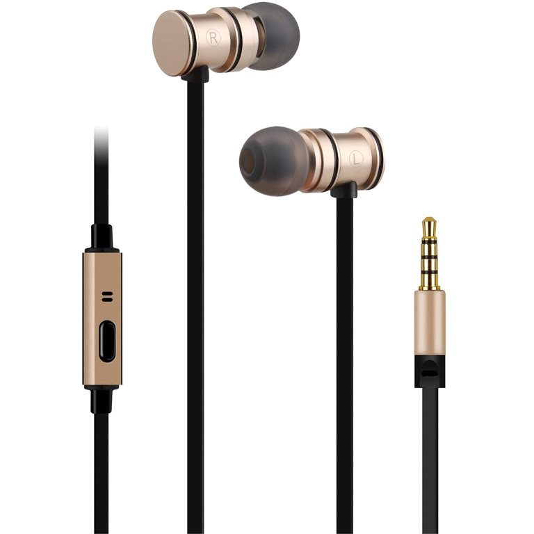 AV:LINK MAGNETIC STEREO EARPHONES WITH INLINE MICROPHONE - EMHF1 SERIES