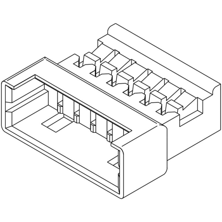 מחבר MOLEX ללחיצה לכבל - סדרת PICOBLADE - זכר 2 מגעים MOLEX
