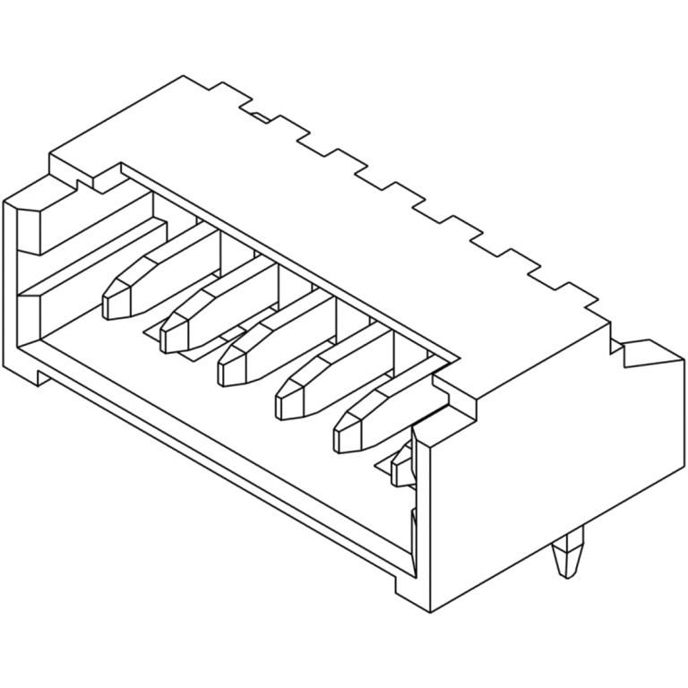 מחבר MOLEX למעגל מודפס - סדרת PICOBLADE - זכר 2 מגעים MOLEX