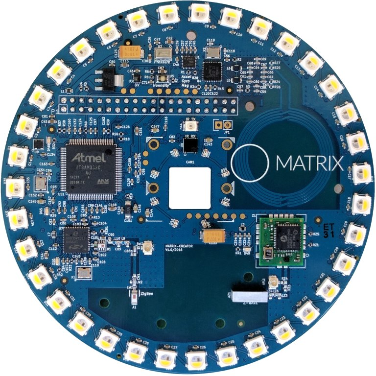 כרטיס הרחבה MATRIX CREATOR C1 עבור RASPBERRY PI 3 MATRIX LABS
