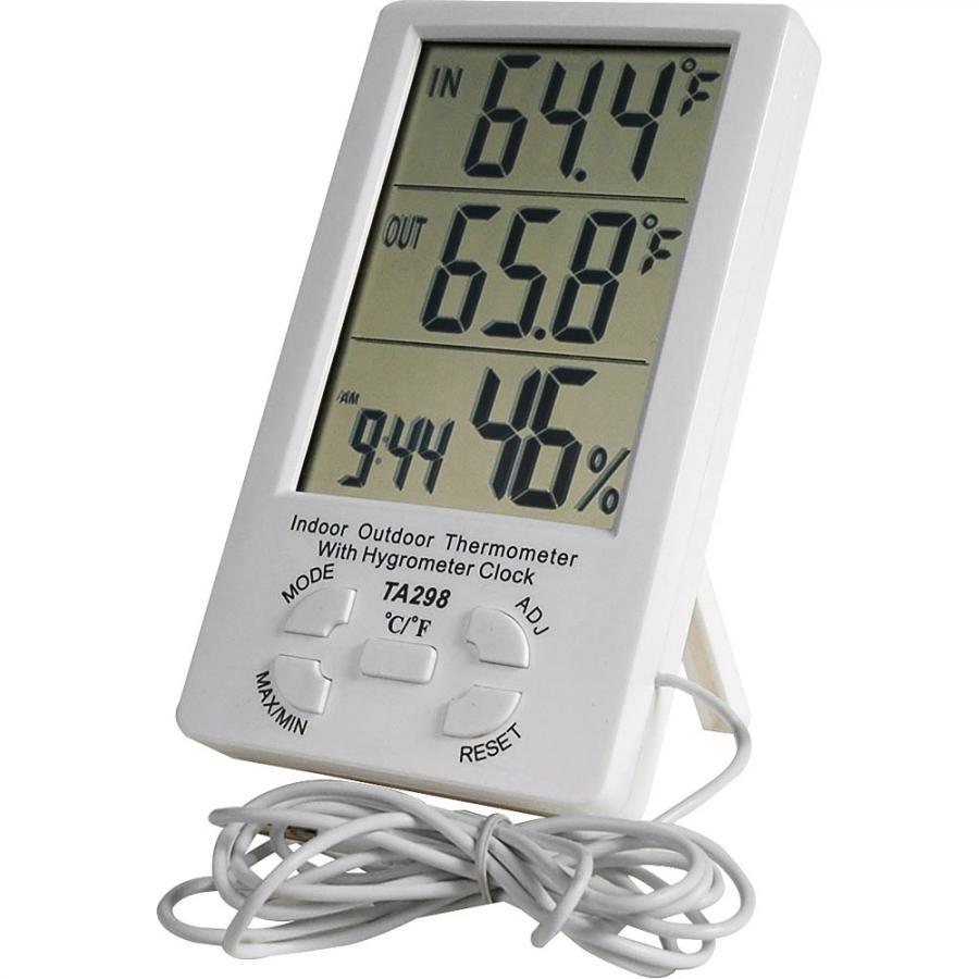 מד טמפרטורה / לחות דיגיטלי - IN / OUT WEATHER STATION TA298 PRO-SIGNAL